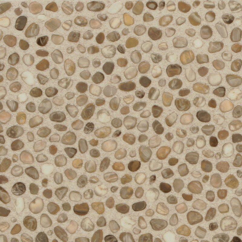 Beige quartz floor tiles